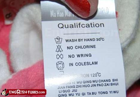 funny translation no washing your toys in coleslaw