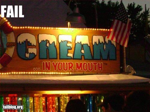 funny fail pics carnival ice cream sign failure cream in your mouth