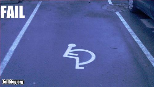 funny fail pics disabled bay stencil epic fail