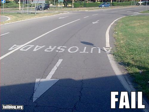 funny fail pics road writing failure