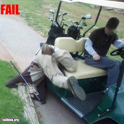 funny fail pics golf buggy crash epic fail