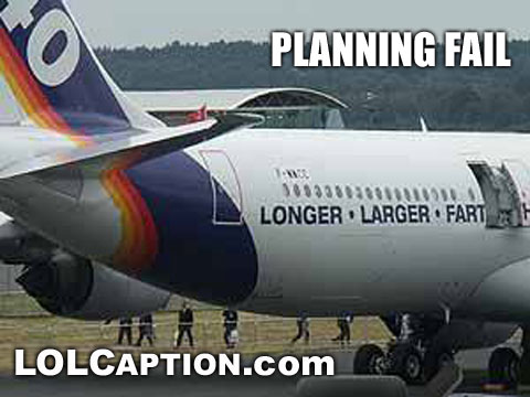 funny fail pics airbus longer larger fart