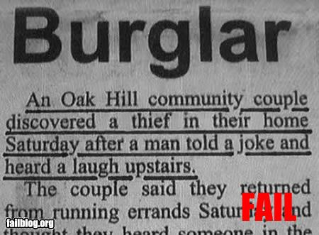 burglar fail joke laugh