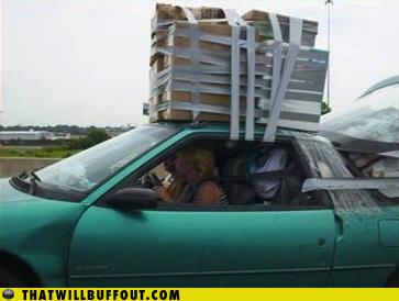 funny fail pics lolcaption gaffa tape car move house epic fail