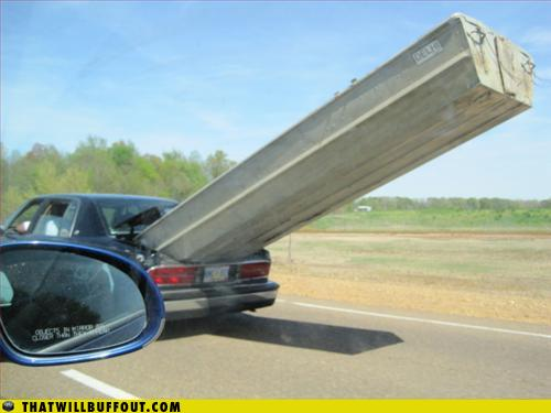 funny fail pics lolcaption boat in car boot