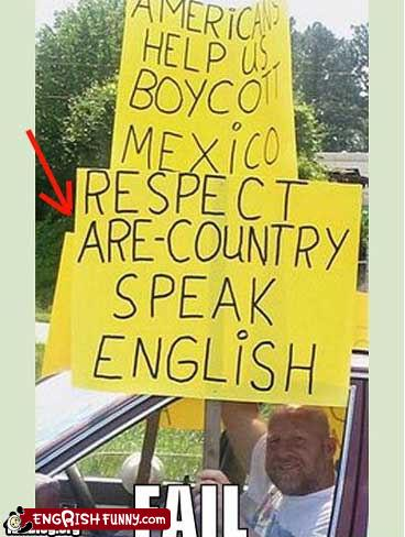 Respect are country speak English boycott Mexico