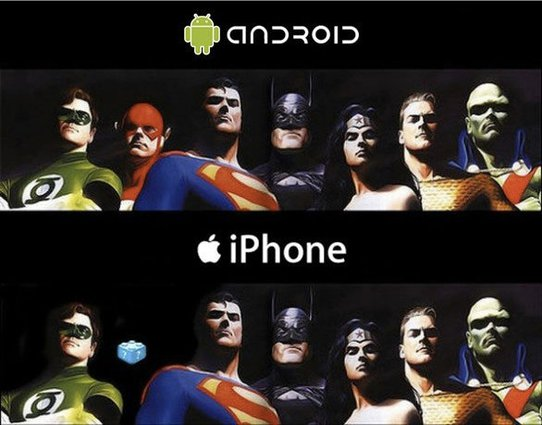 what do super heroes look like on the iphone