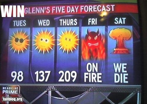 funny win pics 5 day forecast apocalypse
