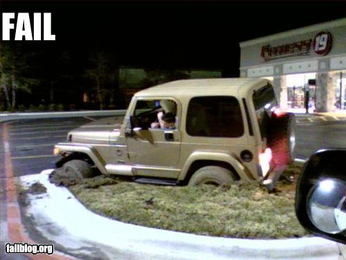 Funny picture Epic Fail Carpark Off roading