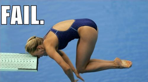 Funny picture - Diving board fail olympics
