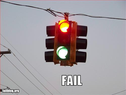 funny fail pics traffic light fail