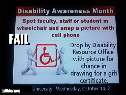 funny fail pics university epic fail disability awareness month