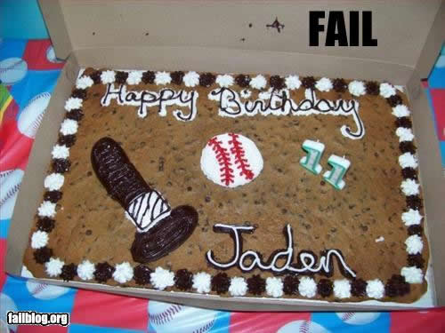 epic birthday cake fail baseball fail 11 bday