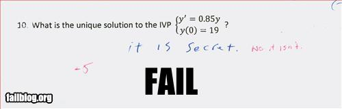 funny fail pics secret test answer maths question its secret no it isnt