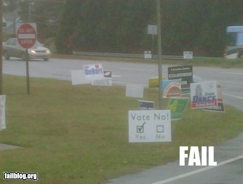 funny fail pics how to vote no yes