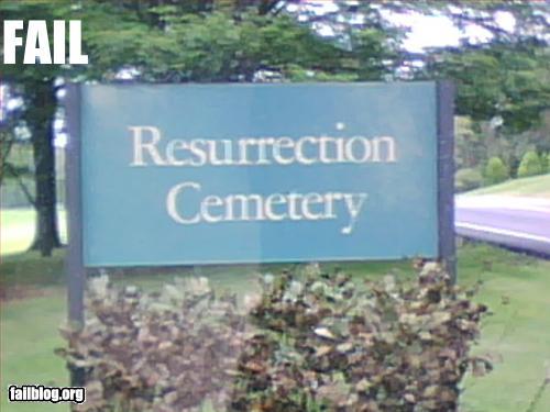 funny fail pics cemetery sign failure