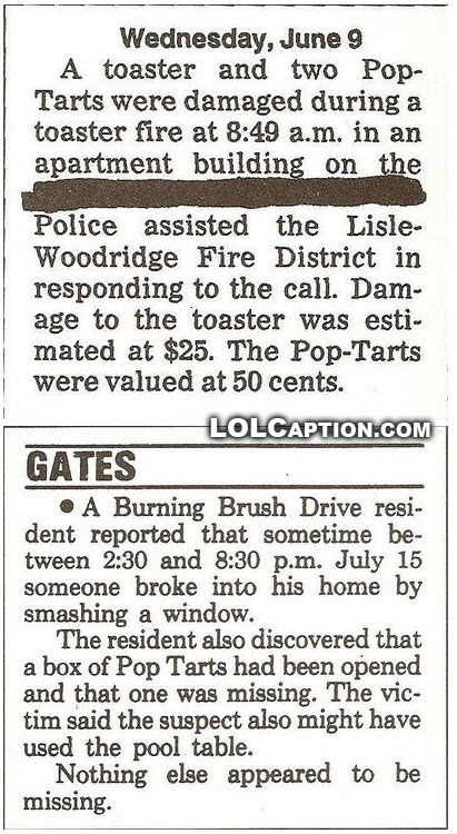 stop-the-press-pop-tarts-damaged-in-a-fire-lolcaption