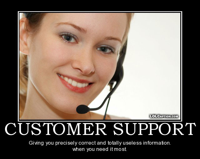 Lolcaption funny demotivational posters customer support