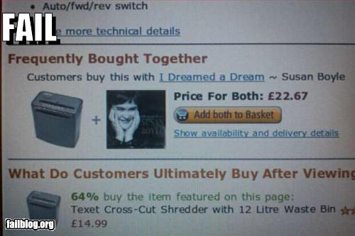 funny fail pics susan boyle frequently purchased with shredder