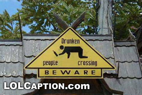 funny pictures drunk people crossing