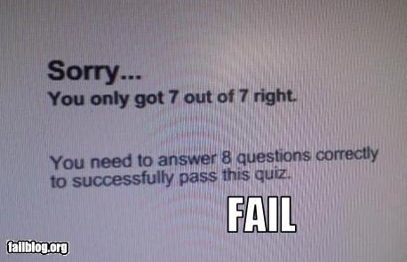 funny fail quiz