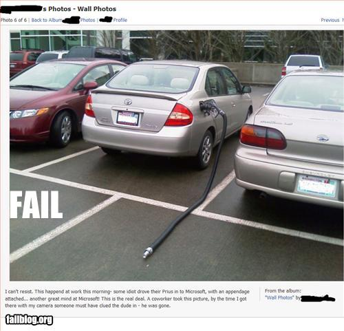 fuel hose stuck on car