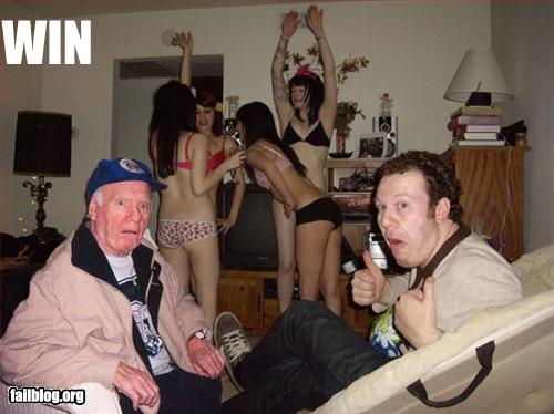 wtf half naked girls and weird old guy