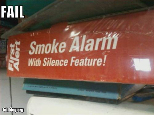 smoke alarm epic fail silence feature