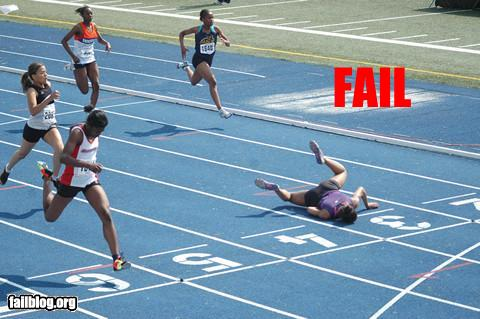 funny fail pics lolcaption runner faceplant track