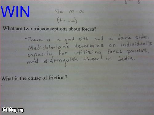how to fail an exam jedi powers