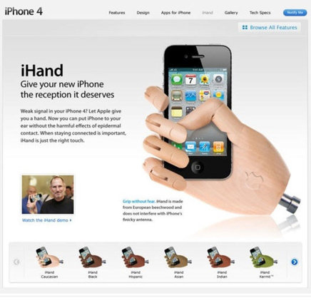 how to hold the new iphone 4.0 ihand