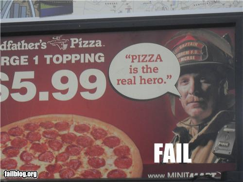 wtf fire fighter pizza hero