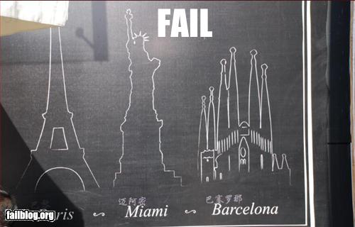 funny failure picture Miami statue of liberty