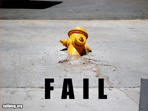 epic fail concrete fire hydrant