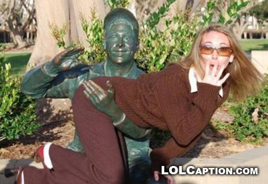 lolcaption-girls-doing-funny-shit-spanking-statue
